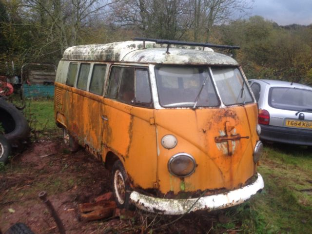 1966 VW Volkswagen Splitscreen Canterbury Pitt Camper Bus Project RHD UK
