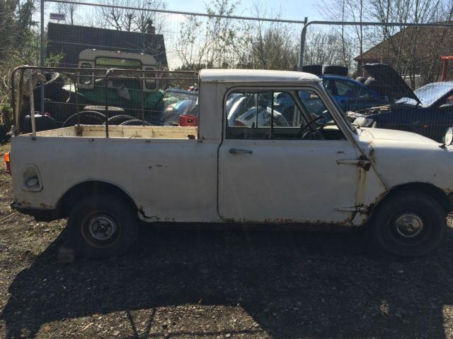 mini pickup 1977 white not van clubman or estate
