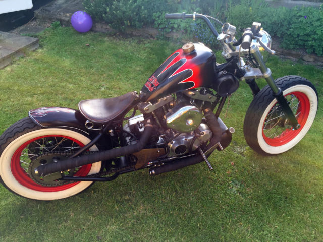 1978 HARLEY-DAVIDSON  RED/BLACK Bobber