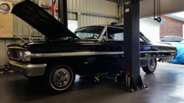 RARE 1964 Ford Galaxie 500 XL Fastback California Classic Black Plate Muscle Car