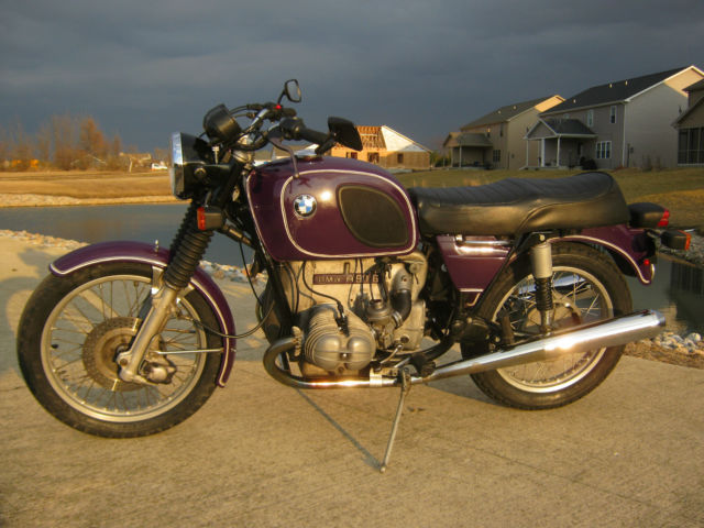 1975 BMW R90/6, classic airhead in purple! new tires, serviced, luggage, 61k?