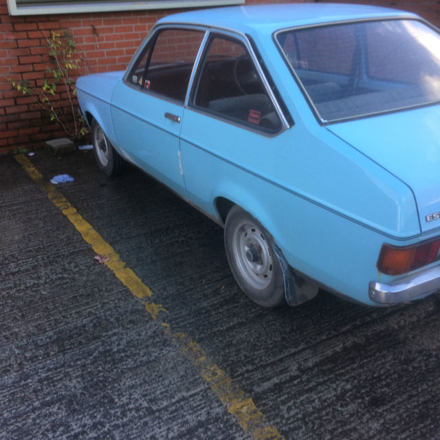 1978 FORD ESCORT L BLUE 2 DOOR WITH 12 MONTHS M.O.T.