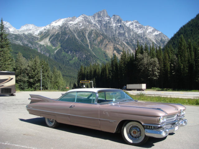 1959 Cadillac Persian Sand  w White bone roof -2 door coupe