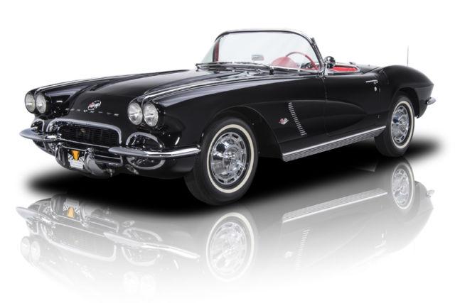Frame Off Restored Tuxedo Black and Red Corvette 327 V8 Muncie 4-Speed