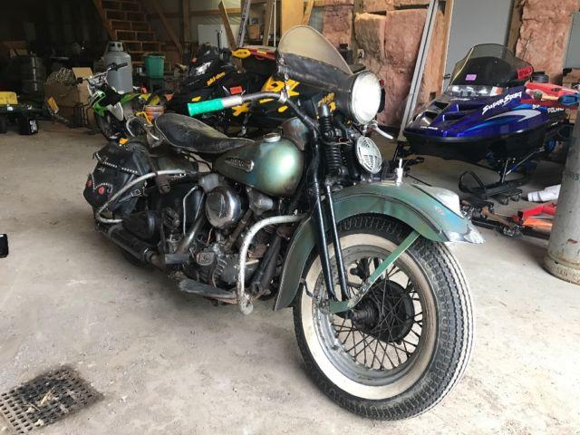 original 1947 Harley Davidson Knucklehead Barn Find For ...