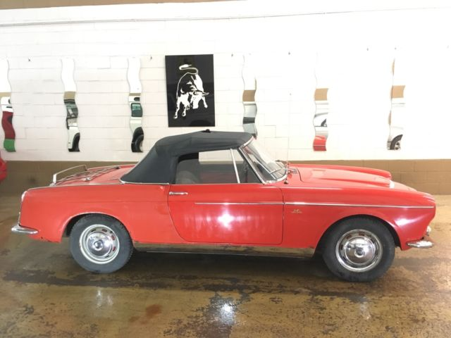 1959 Fiat 1200 cabriolet Vetture Speciale all original. Worldwide shipping