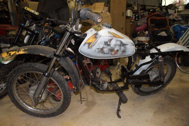 Kawasaki 1980 KM100 cc Trail Bike Chrome Spoke Wheels
