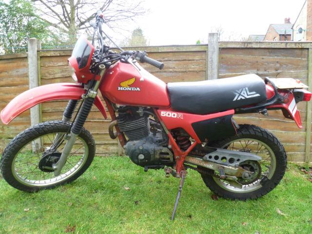 1982 HONDA XL500 RED Trail bike