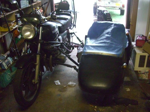 Suzuki GS850S and SIDE CAR