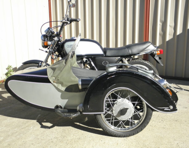 Honda GB250 and sidecar, 1987 model, fantastic looking chair, a real head turner