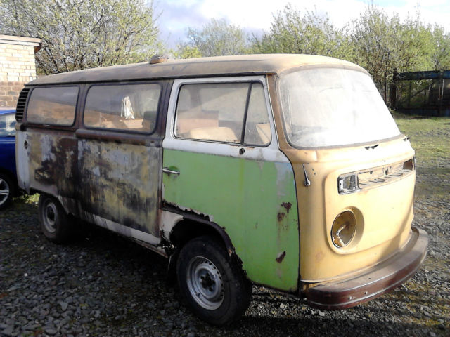 classic vw campervan 1978 for restoration