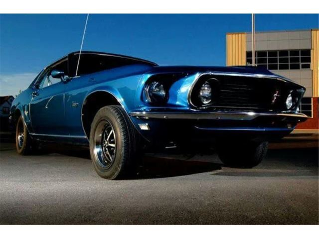 1969 Ford Mustang Coupe Grande Acapulco Blue 302 CID 2 bbl Meticulously Restored