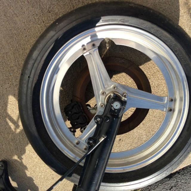Honda Cbx1000 Drag Bike Rolling Chassis Kosman Wheels Swingarm