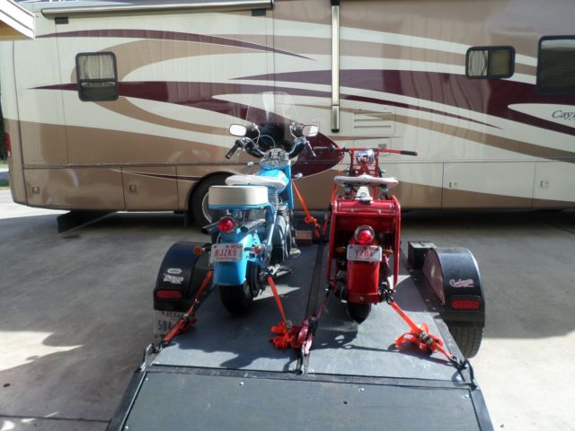 cushman scooters for sale 1959 cushman eagle and 1949 highlander and trailer