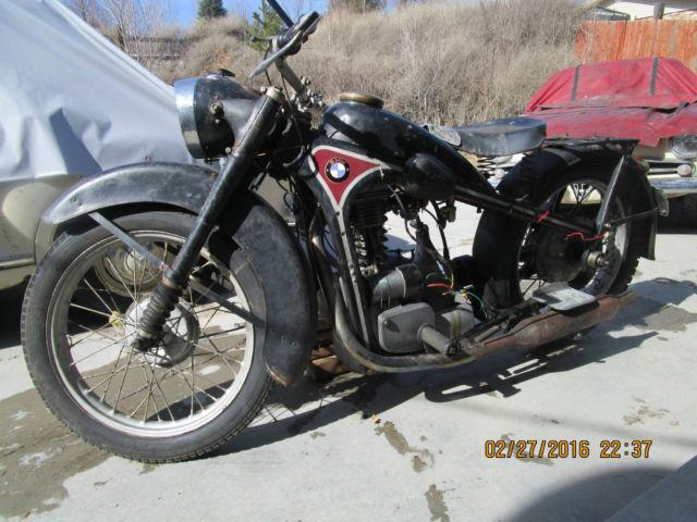 BMW  EMW R35 Motorcycle antique ww2 Latvian bunker find rare wehrmacht waffen