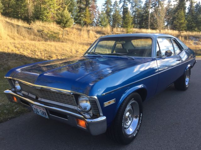 1971 Chevy Nova 83k original miles, Protecto Plate, Factory Manual Transmission
