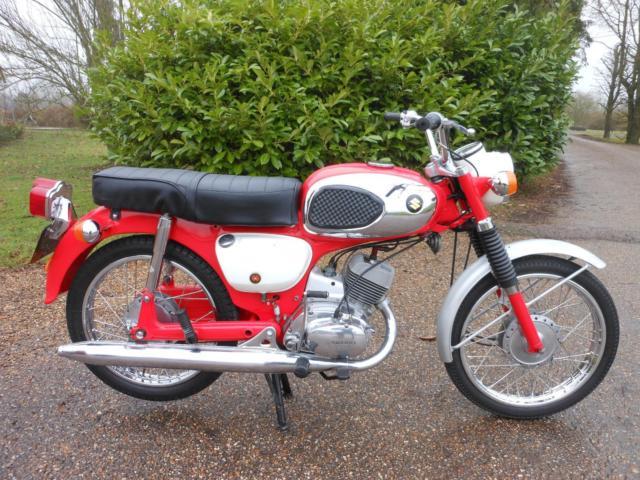 SUZUKI B120, 1969, CLASSIC TWO STROKE, OLDER RESTORATION IN LOVELY CONDITION.