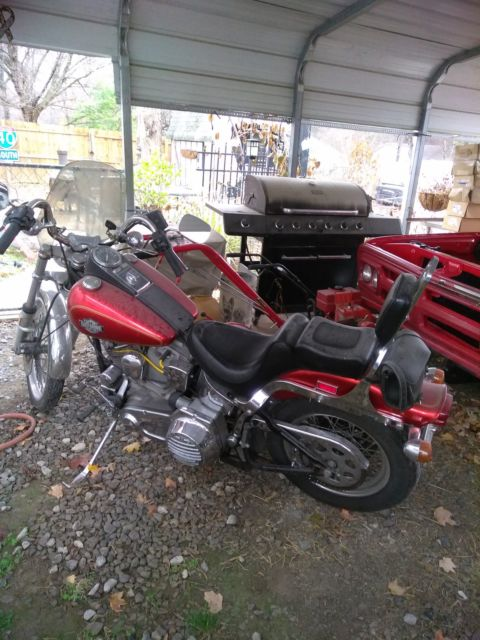 1984 harley davidson motorcycle softail stock first year evo motor fxst