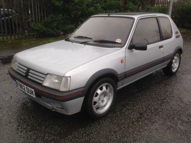 1989 Peugeot 205 1.9 GTi 3 door, full MOT, usable classic car