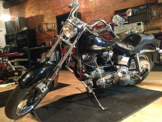 1977 Harley FXE Shovelhead Superglide FX 1200 74 Delkron Cases For