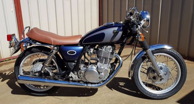 Yamaha SR500 classic single 1988 slight modifications starts easily goes great