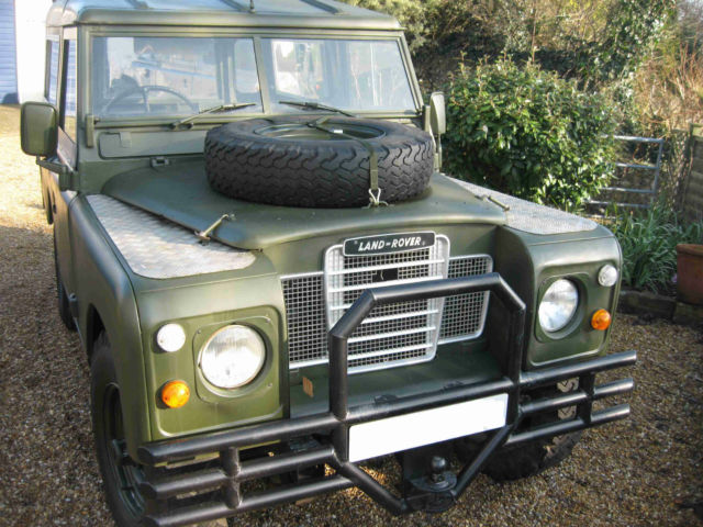 "Restored Land Rover SERIES 3 1980 SWB 88"" 2286CC petrol hardtop 42150m"