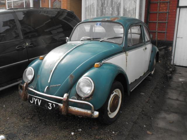 1966 vw beetle 1500 deluxe volkswagen type 1 early rare parts project original