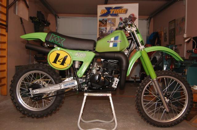 Kawasaki kx 420 1981 fully restored 2 stroke motocross bike