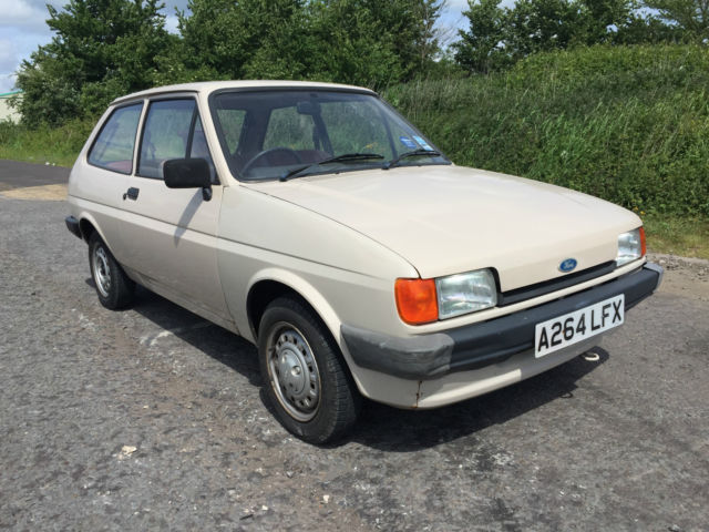 1984 FORD FIESTA MK2 POPULAR 957CC, HEARING AID BEIGE, 52K MILES AND 1 OWNER!
