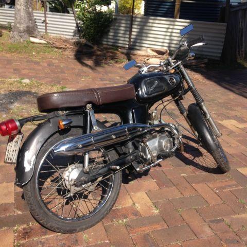 vintage japanese honda 50cc worked to 80cc cafe racer 1967 motorcycle for sale kangaroo point. Black Bedroom Furniture Sets. Home Design Ideas
