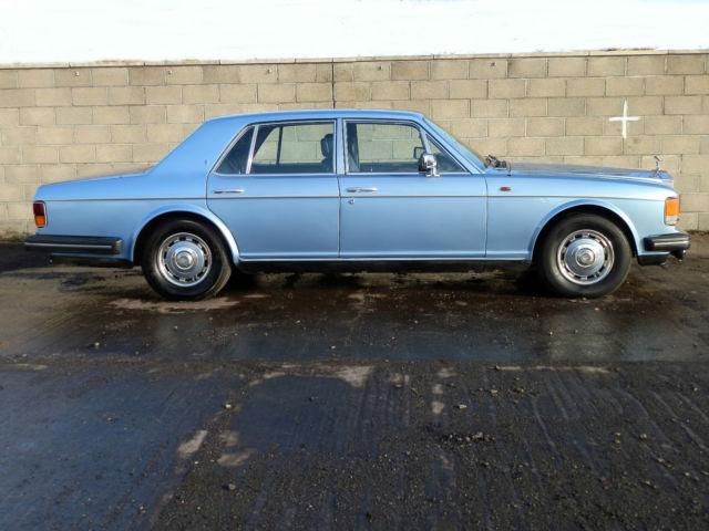 Rolls Royce Silver Spirit, 1981, Ocean Blue, Blue leather.