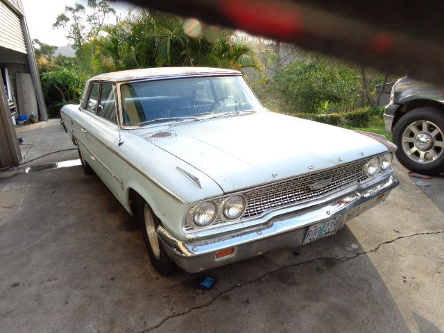 1963 FORD GALAXIE 2 DOOR POST BIG BLOCK FE AUTO CLEAN RUST FREE 2 OWNER RUNNING