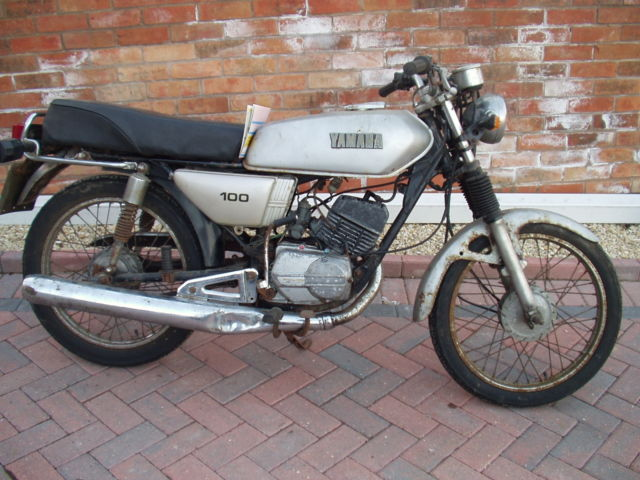 yamaha rs 100 with rs125 engine. barnfind project restoration