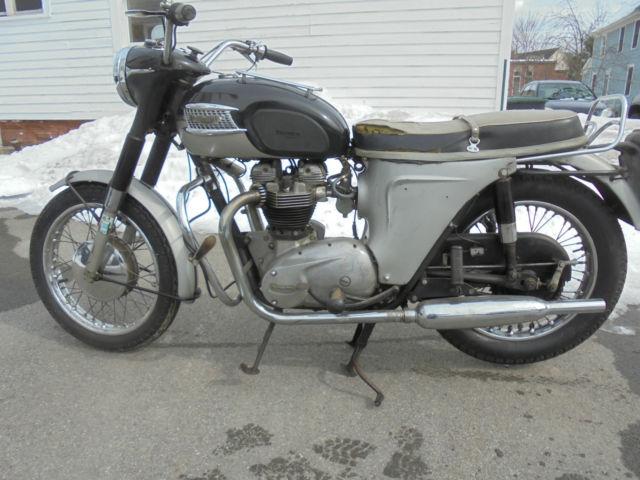 Vintage Triumph  Motorcycle .
