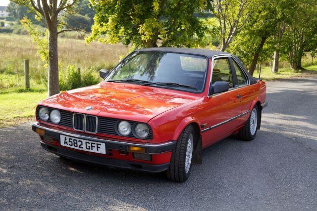 1984 BMW E30 323 TC Baur convertible cabriolet for renovation (runs & drives)
