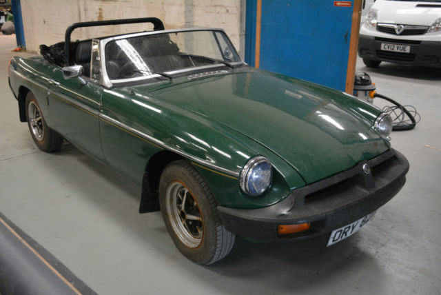 1976 1.8 MG B GREEN ROADSTER RUNNING PROJECT