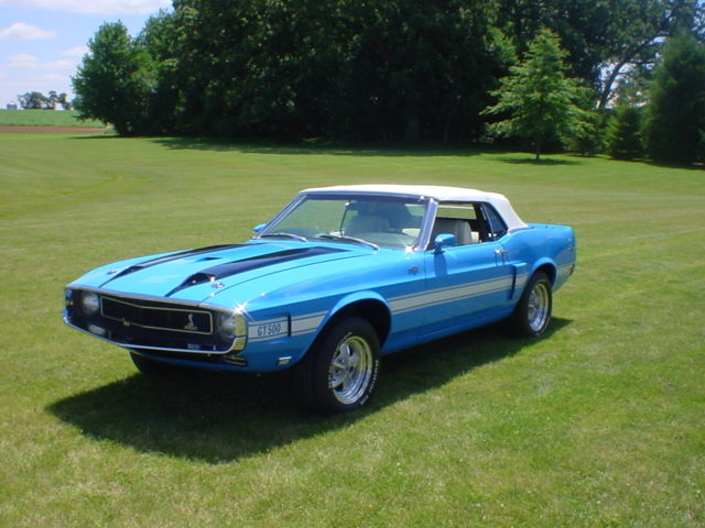1969 ford mustang shelby GT 500 convertible