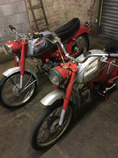 2 x motobecane mobylette sp94 50cc mopeds cafe racers