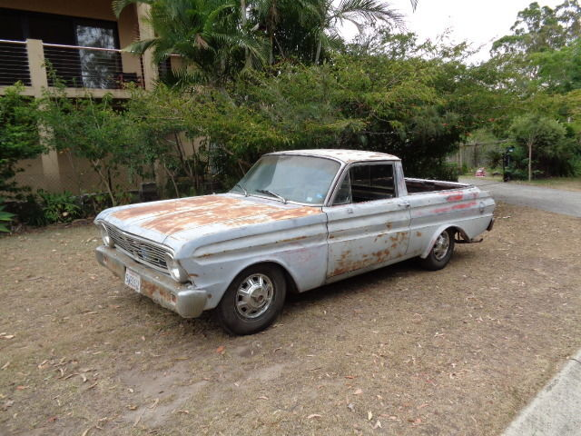 "1965 FORD RANCHERO UTE 289 C4 AUTO 8"" PROJECT CAR NEEDS TLC RUNS CLEAN CA CAR"