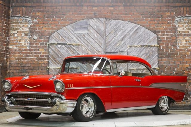 57 Chevy 383 ci Muncie 4-speed Manual Lowered Frame Off Previous Sam Pack Car