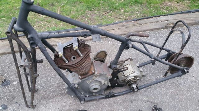 1928 BSA Sloper 4.93 H.P. OHV- Good bits