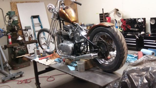 1966 bsa motorcycle chopper