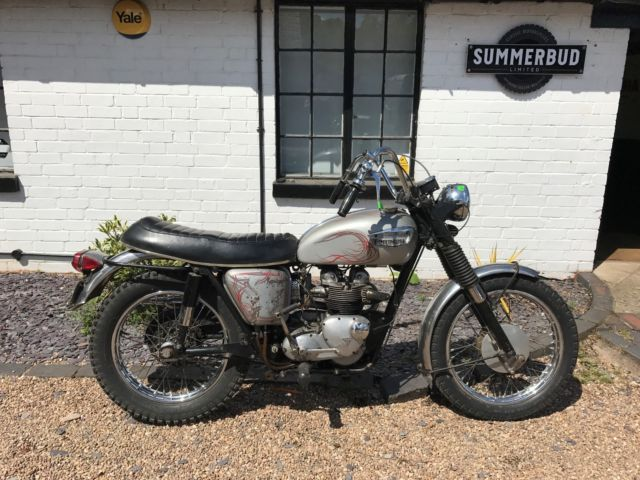 Triumph T100C 1968 Restoration Project Spares or Repair Barn Find US