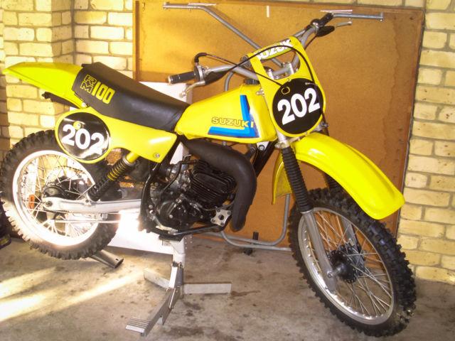 Vintage Motocross Suzuki RM100N 1979 (Restored) VMX RARE