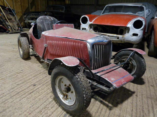 RILEY PETROL (PEDAL) CAR 1960? VERY RARE GREAT PROJECT FOR RESTORATION