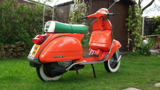 vespa scooter mk1 p200e spanish ds model