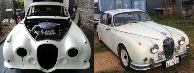 MK 2 Jaguar's restoration project.