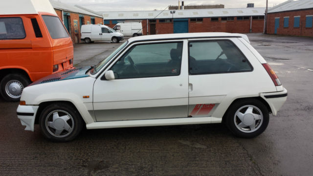 Renault 5 Gt Turbo Pearl White 70k Spares Repairs Project Restoration For Sale Stoke On Trent Staffordshire United Kingdom Automotoclassicsale Com