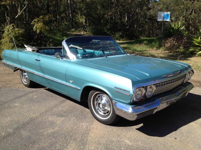 Chevrolet Impala SS Convertible 1963 327 powerglide full NSW registration
