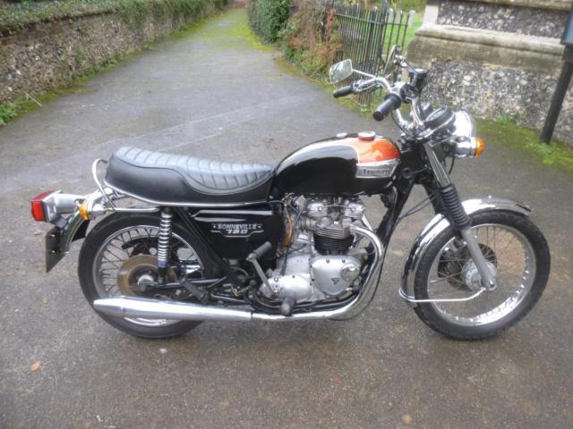 1979 T Triumph Bonneville T140v Us 750cc Blackred 13342 Miles